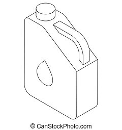 Jerry can icon, isometric 3d style - Jerry can of petrol or...