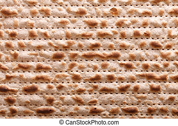 Jewish matzah kosher macro horizontal background -...