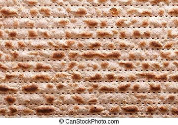 Jewish matzah kosher macro horizontal background -...