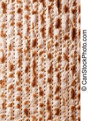 Jewish matzah kosher macro vertical background - Traditional...