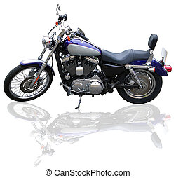 Custom bike - Custom motorcycle on a white background.