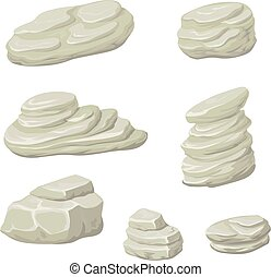 Stones and rocks cartoon vector Cartoon stone, rock nature,...