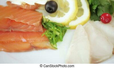 Fish table at banquet