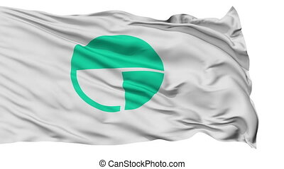 Nagano Capital City Isolated Flag - Nagano Capital City...