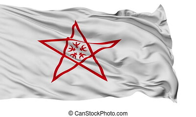 Nagasaki Capital City Isolated Flag - Nagasaki Capital City...