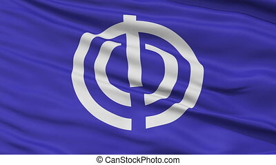 Naha Capital City Close Up Flag - Naha Capital City Flag,...