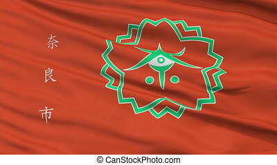 Nara Capital City Close Up Flag - Nara Capital City Flag,...