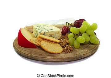 Cheese selection - Selection of cheese, grapes and walnuts...