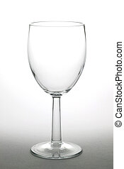 Wine glass 1 - Empty wine glass isolated on a graduated...