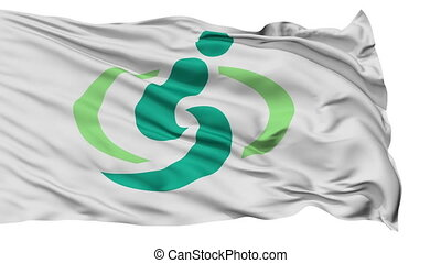 Saitama Capital City Isolated Flag - Saitama Capital City...