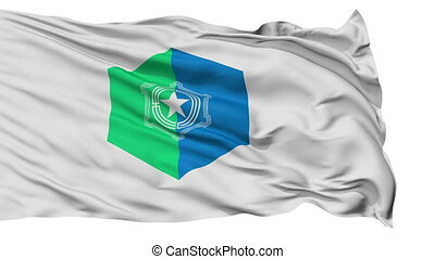 Sapporo Capital City Isolated Flag - Sapporo Capital City...