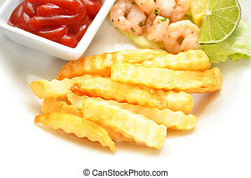 French Fries Served as a Side Dish
