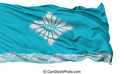 Toyama Capital City Isolated Flag - Toyama Capital City...