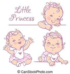 Little baby girl set.