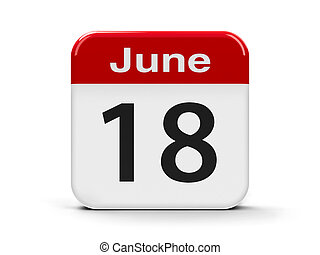 18th June - Calendar web button - The Eighteenth of June,...