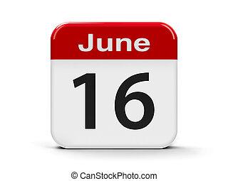 16th June - Calendar web button - The Sixteenth of June -...