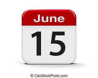 15th June - Calendar web button - The Fifteenth of June,...