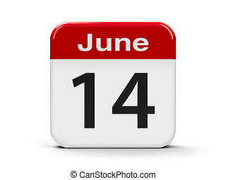 14th June - Calendar web button - The Fourteenth of June -...