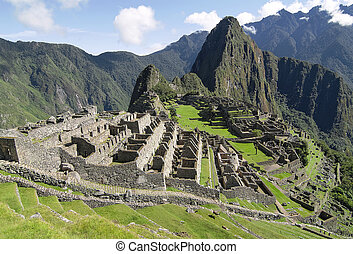 Machu Picchu, lost city of Inkas in Peru