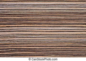 Zebrano Veneer - Texture of zebrano veneer