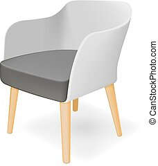 Armchair Vector illustration - Photorealistic armchair on...