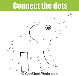 Connect the dots children game - Connect the dots...