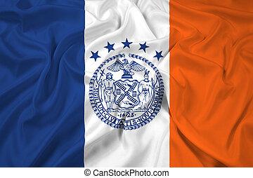 Waving Flag of New York City