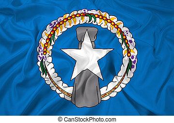 Flag of Northern Mariana Islands - Waving Flag of Northern...