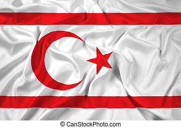 Waving Flag of Northern Cyprus