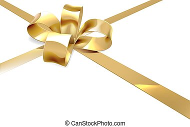 Gold Bow Present Background