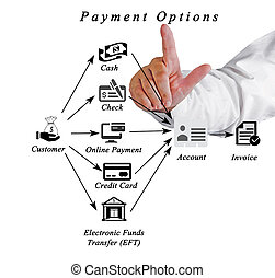 Diagram of payment options