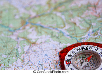 On a journey with map and compass - The magnetic compass is...
