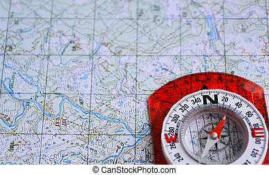 On a journey with map and compass. - The magnetic compass is...