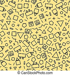 seamless vector geometric - seamless geometric background...