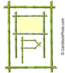 Bamboo Frame - Bamboo frame isolated on white