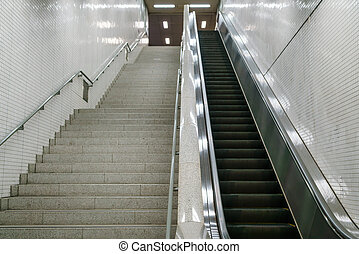 Staircase in subway station