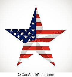 Star in national flag usa Memorial day concept