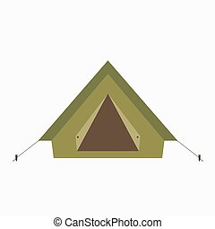 Camp tent icon. Isolated camping tent icon vector.