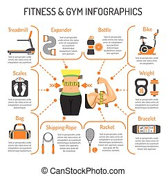 Fitness and Gym Infographics - Fitness, Gym, Healthy...