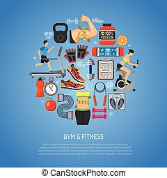Fitness and Gym Concept for Mobile Applications, Web Site,...