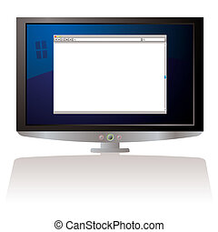 LCD web browser monitor - LCD Computer screen with internet...