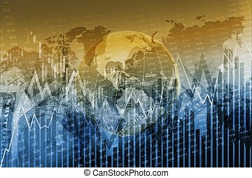 Global Stock Exchange Concept Graphic Background. Global...