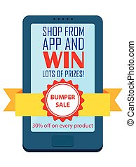 Shop and Win concept