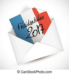 French presidential election letter full vector elements