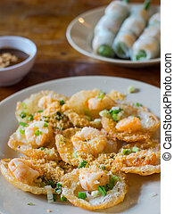 Vietnamese food, Banh Khot with shrimps - Banh Khot with...