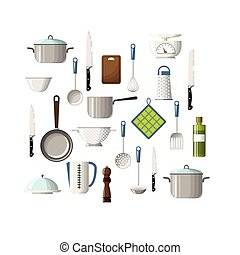 Set of cooking utensils