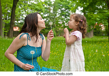 Happy life time - mother with child - Mother with small...