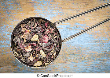 blood circulation and metabolism tea - measuring scoop of a...