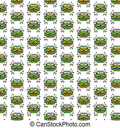 Worried Robot Character Illustration Pattern - Funny robot...