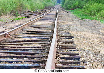 old railway track in the forest